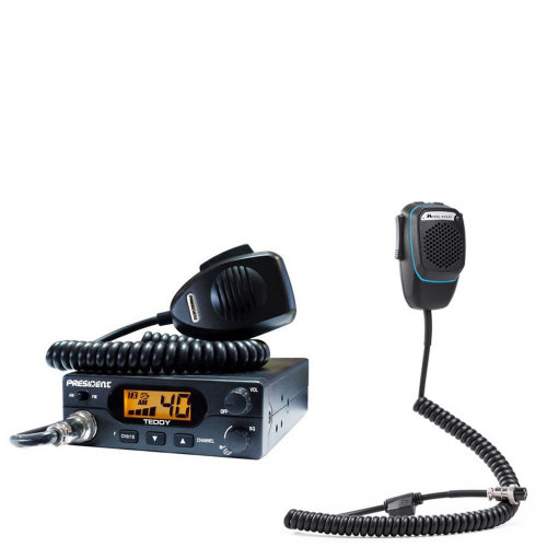 CB Radio President Teddy ASC + Dual Mike smart microphone with 6-pin Bluetooth
