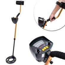 Homcom Metal Detector Deep Target Power Treasure Coins Jewelry Hunting Waterproof Coil with Shovel+carry Bag