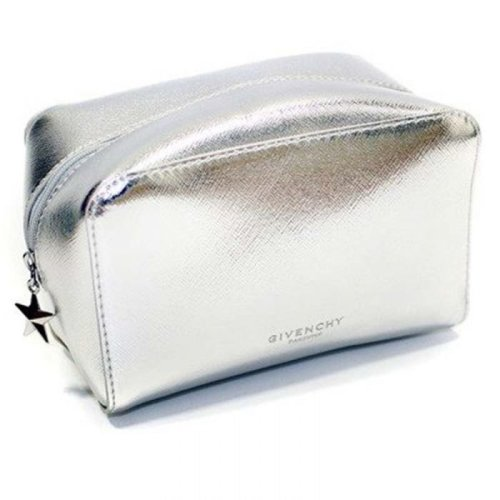 Givenchy Parfums Make Up/Toiletry/Acessory Bag, Small Cubic Pouch, Silver