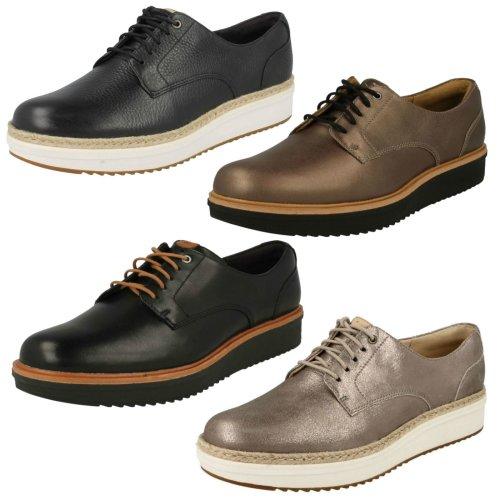 Ladies Clarks Brogue Style Shoes Teadale Rhea - D Fit