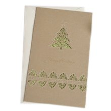 Christmas Cards Greeting Cards Christmas Gift Xmas Cards (4 Cards and Envelopes), Brown # 28