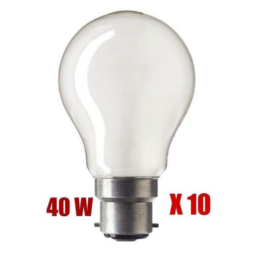 10 X 40W BC Pearl GLS Light Bulb Lamp 40 Watt 240v