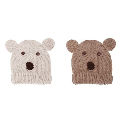 Girls Animal Teddy Bear Design Winter Hat
