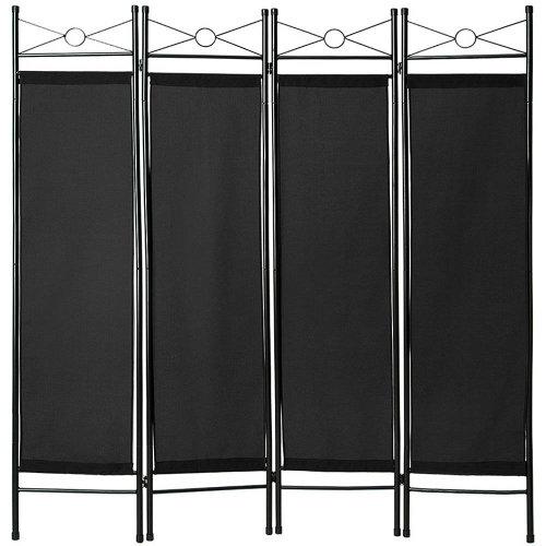 Room divider paravent black