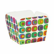 100 Pcs Heat-resistant Cupcake Paper Baking Cup Square Muffin Cup, Color Blocks