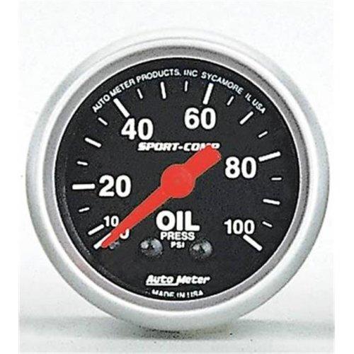 AUTO METER 3321 Sport-Comp Oil Pressure 0-100Psi
