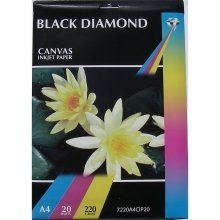 A4 220gsm Black Diamond Canvas Inkjet Paper