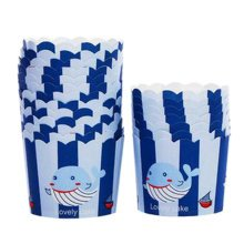 80 Count Home Cute Baking Cups Cupcakes Cases Cupcakes Cup, Whale Pattern