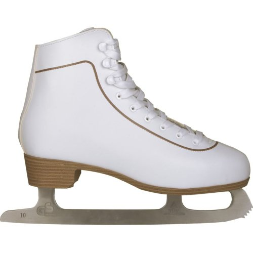 Nijdam Women's Figure Skates Classic Leather Size 38 Skating Boots 0043-WIT-38