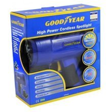 GOODYEAR Rechargeable Cordless Spotlight Torch 1 Million Candle Power Blue 1m