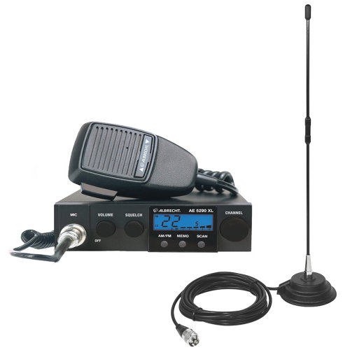CB Radio Albrecht AE 5290XL + CB Antenna PNI Extra 40 with magnetic base