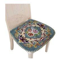 Creative Retro Style Seat Cushion Soft and Comfortable Chair Cushion, Green