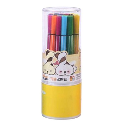 [K] 24 Colors Watercolor Drawing Pens Colored Marker Pens Set for Children