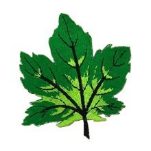 6 Pcs Exquisite Applique Patches DIY Applique Embroidered Patches, Green Leaf
