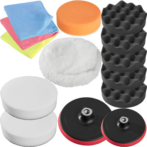 Car polishing kit 14 PCs - colorful