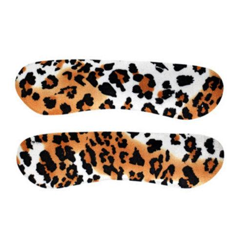Ladies Laopard Heel Cushions Padded Heel Grips Care Heel Liners 4 Pairs
