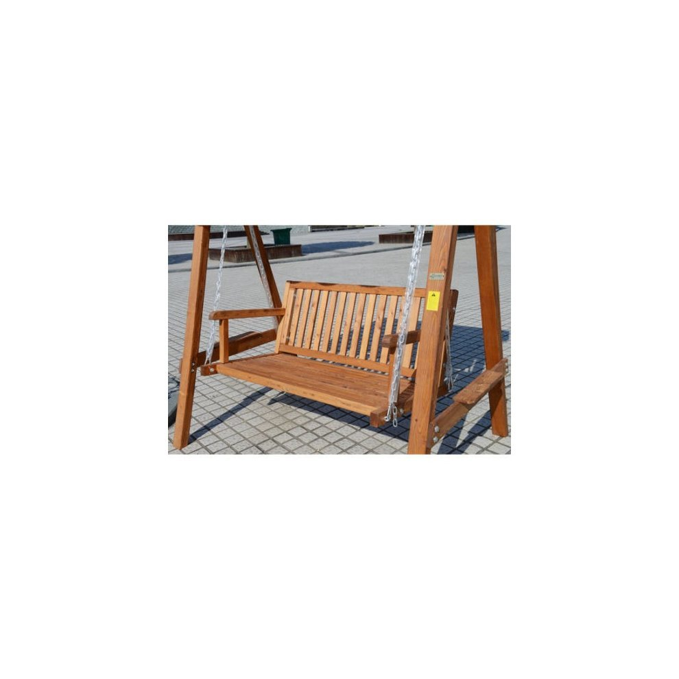 Outsunny 2 Seater Wood Swing Chair 3