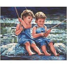 Dpw91414 - Paintsworks Paint by Numbers - Fishin Pals
