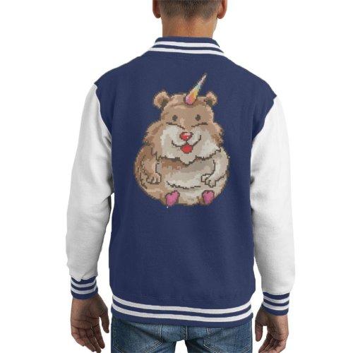 Hamster Unicorn Pixel Art Kid's Varsity Jacket