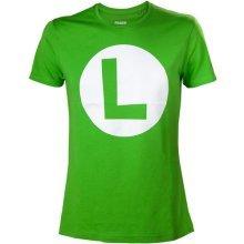 Nintendo Super Mario Bros. Big Luigi Logo Mens T-Shirt X-L Green  TS313154NTN-XL