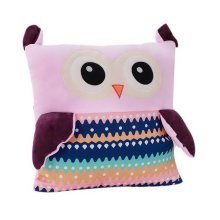 Warm Hands Cover Pillow Plush Toys Birthday Gift For Girls Large Pillow Pink Owl