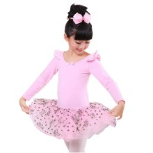 Comfortable Leotard Dress Ballet Long Sleeve Tutu Skirt Ballerina Dance Costumes, A
