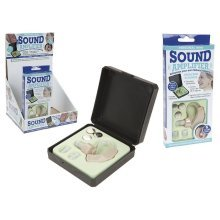 Personal Mini Sound Amplifier With Hard Plastic Carry Case & Batteries - -  hearing sound amplifier mini case personal batteries enhance left right