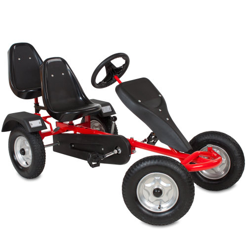 Go kart with 2 seats red