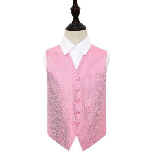 Baby Pink Greek Key Wedding Waistcoat for Boys 34'
