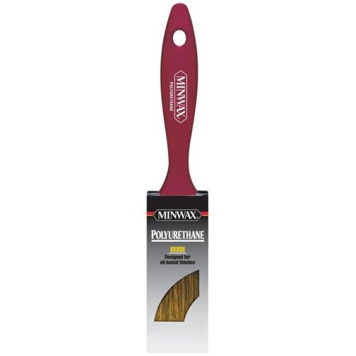 Minwax 1624287 1-0.5 in. Flat Black China Bristle Polyurethane Paint Brush