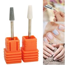 3/32 Inch Ceramic Nail Drill Bit Tool Smooth Top Rotary File Manicure Pedicure