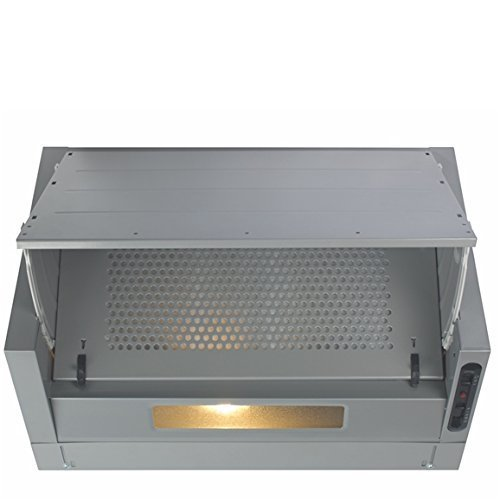 CDA EIN60 60cm Integrated Cooker Hood Extractor in Silver/Grey