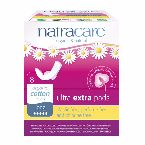 Natracare  Ultra Extra Pads With Wings - Long 8s