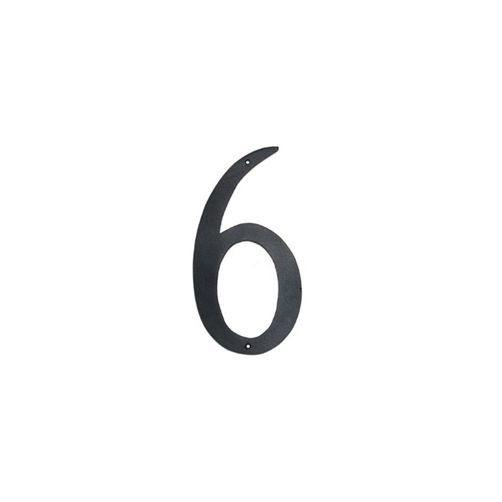 Montague Metal Products CSHN-6-4 4 In  Standard Modern Font Individual  House Number 6