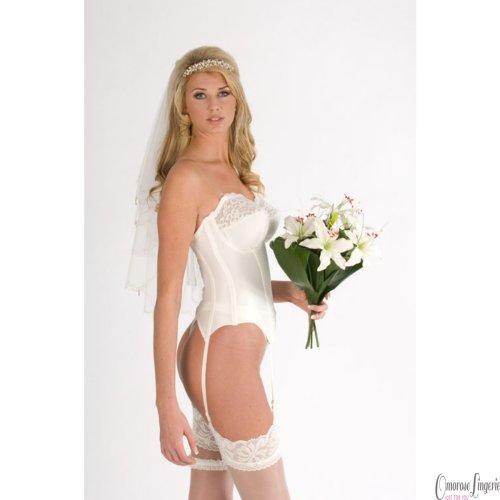 Silhouette Paysanne Multiway Lace Bridal Basque (4056) [UK] (Pearl 34D)