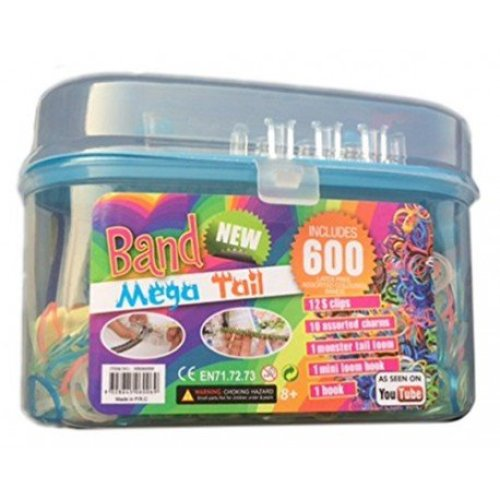 Loom Band Mega Tail 600 Pack Flip Top Case