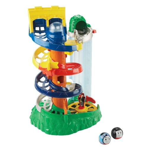 Fisher Price Toy - My First Thomas and Friends - Rail Rollers Spiral Station with Thomas and Diesel