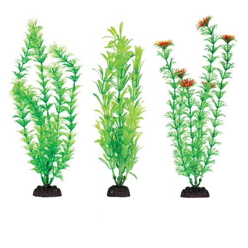 "Plastic Aquarium Plants 4"" Penn Plax, Pack Of 6 Green Assorted"