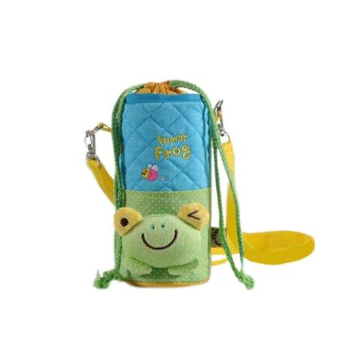 Lovely Kindergarten Green Frog Bottle Messenger Bag (22*8CM)