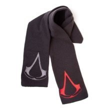 Assassins Creed Unisex Red/Grey Brotherhood Crest Logos Scarf - Black