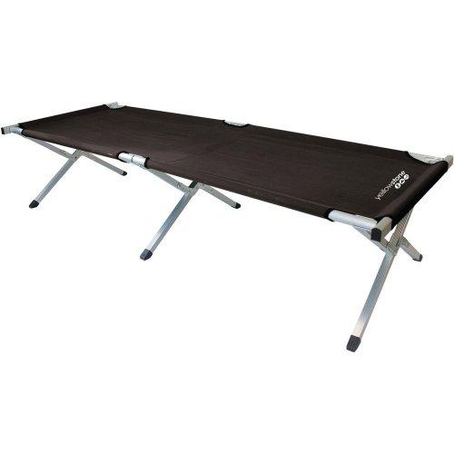 Yellowstone Folding Single Camp Bed (Black)