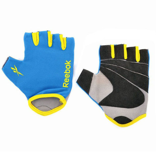 Reebok Ladies Womens Fitness Workout Gym Gloves Blue