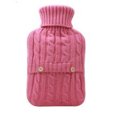 2LWarm Cute Hot-Water Bottle Water Bag Water Injection Handwarmer Pocket Cozy Comfort,A