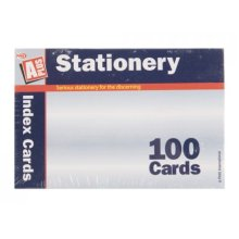 100sheet 4 X6 Index Cards In Shrink Wrap W/insert