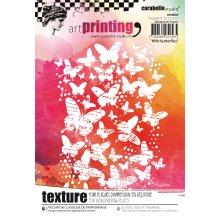 Carabelle Studio Art Printing A6 Rubber Texture Plate-Butterflies