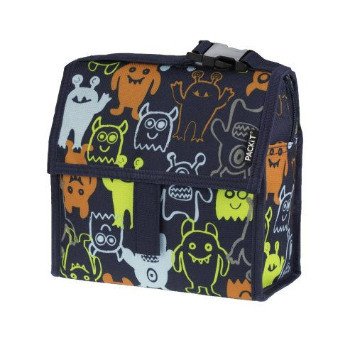(monsters) PackIt Mini Lunch Bag | Personal Cooler For Kids