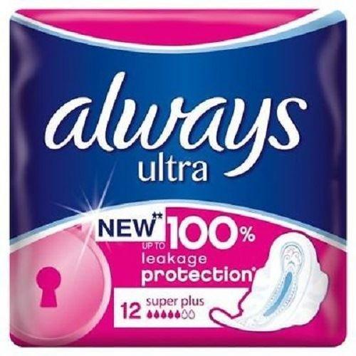 Always Ultra Sanitary Pads Super Plus FOUR PACKS 4x12pk Neutralizes Odor