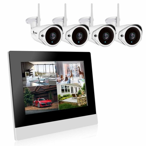 Luowice Wireless Security Camera System Outdoor Wifi Cctv