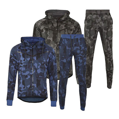 Men's Camouflage Fleece Tracksuit Set