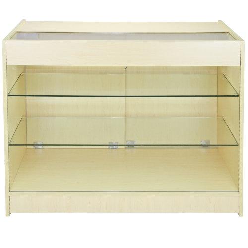 Maple Retail Lockable Glass Shelf Cabinet K1200